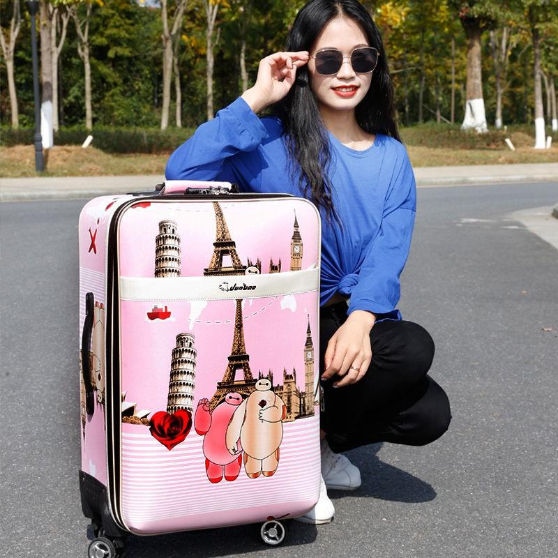 กระเป๋าเดินทางหนังแบบมีรหัสผ่านขนาด 22 นิ้ว 24 นิ้ว 26 นิ้ว