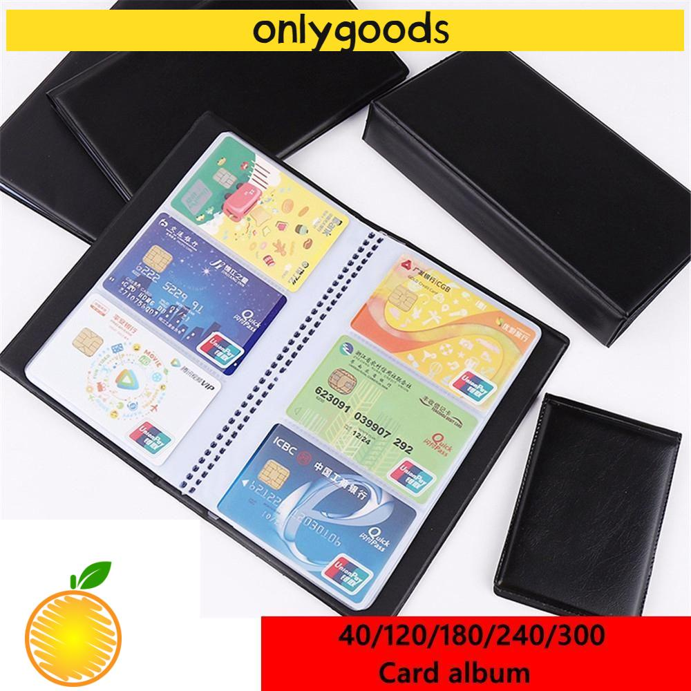 🎉ONLY🎉 Wallet Cards Album Paper Craft Book Case Card Holder Books Credit Card New Container Collection Leather