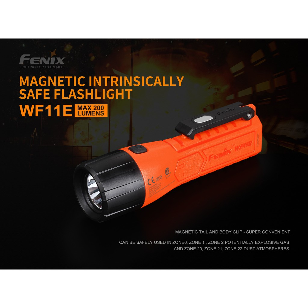 ไฟฉาย Fenix WF11E  Explosion-Proof Magnetic