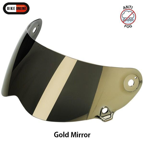Gold Mirror Biltwell Lane Splitter Shield Anti Fog