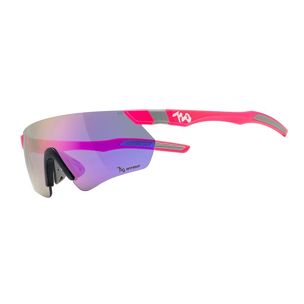 แว่นตากันแดด 720armour รุ่น Elfo สีกรอบ Neon Pinky Punch สีเลนส์ Smoke Violet