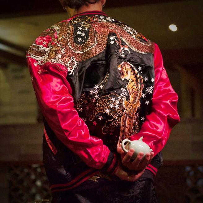 SUKAJAN พรีเมียมเกรด Japanese Souvenir Jacket  แจ็คเกตซูกาจันลาย RED DRAGON VS TIGER