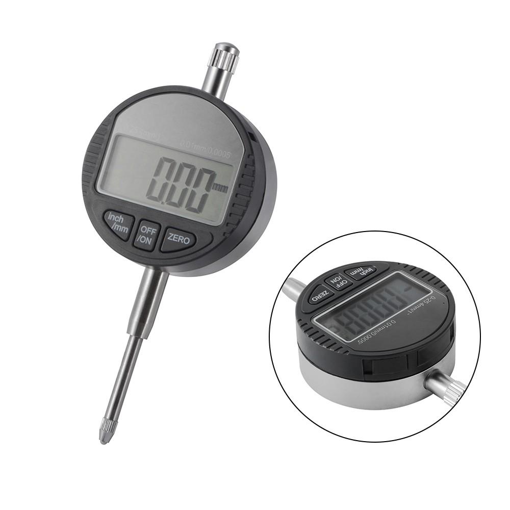 0-25.4mm//1/'/' Digital Probe Range 0.01mm//0.0005/'/' Dial Indicator Clock Gauge
