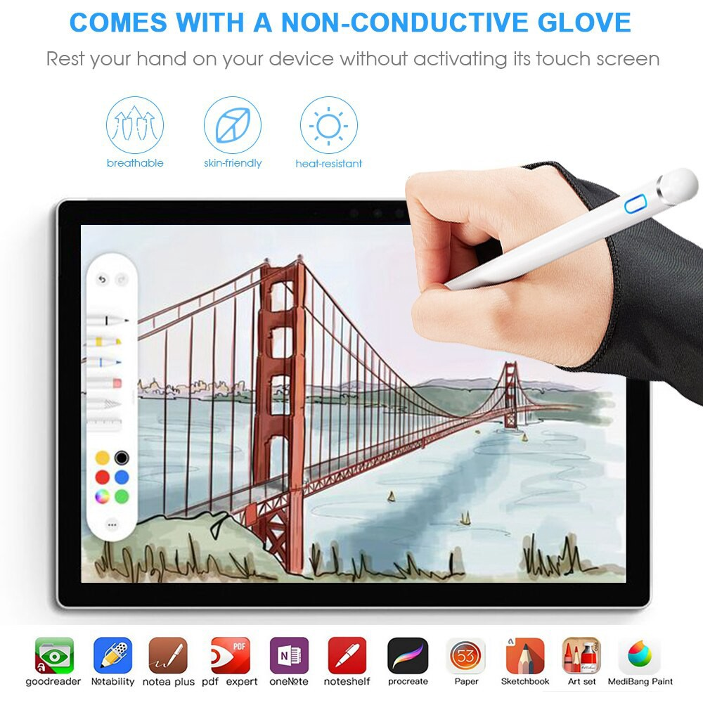 ✎▬❧GOOJODOQ stylus ปากกาสัมผัสสําหรับ apple pencil ipad pro air 2 3 mini 4 ปากกาสําหรับแท็บเล็ต ios/android