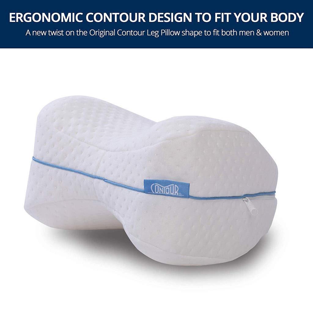 Memory Foam Contour Legacy Leg Pillow Back Hip Legs Knee Support Wedge Sleeping