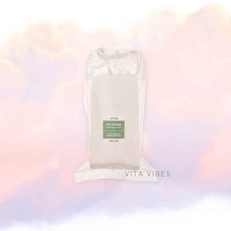 แท้ฉลากไทย Anua cotton pad for toner 120 แผ่น.