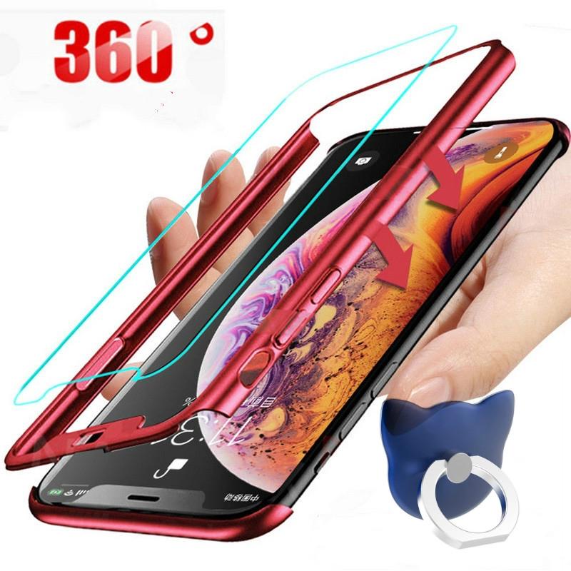 360 คุ้มครองเต็มรูปแบบปกโทรศัพท์ case สำหรับ Samsung Galaxy A6 7 J6 2018 Plus Note 8 9 10 Pro