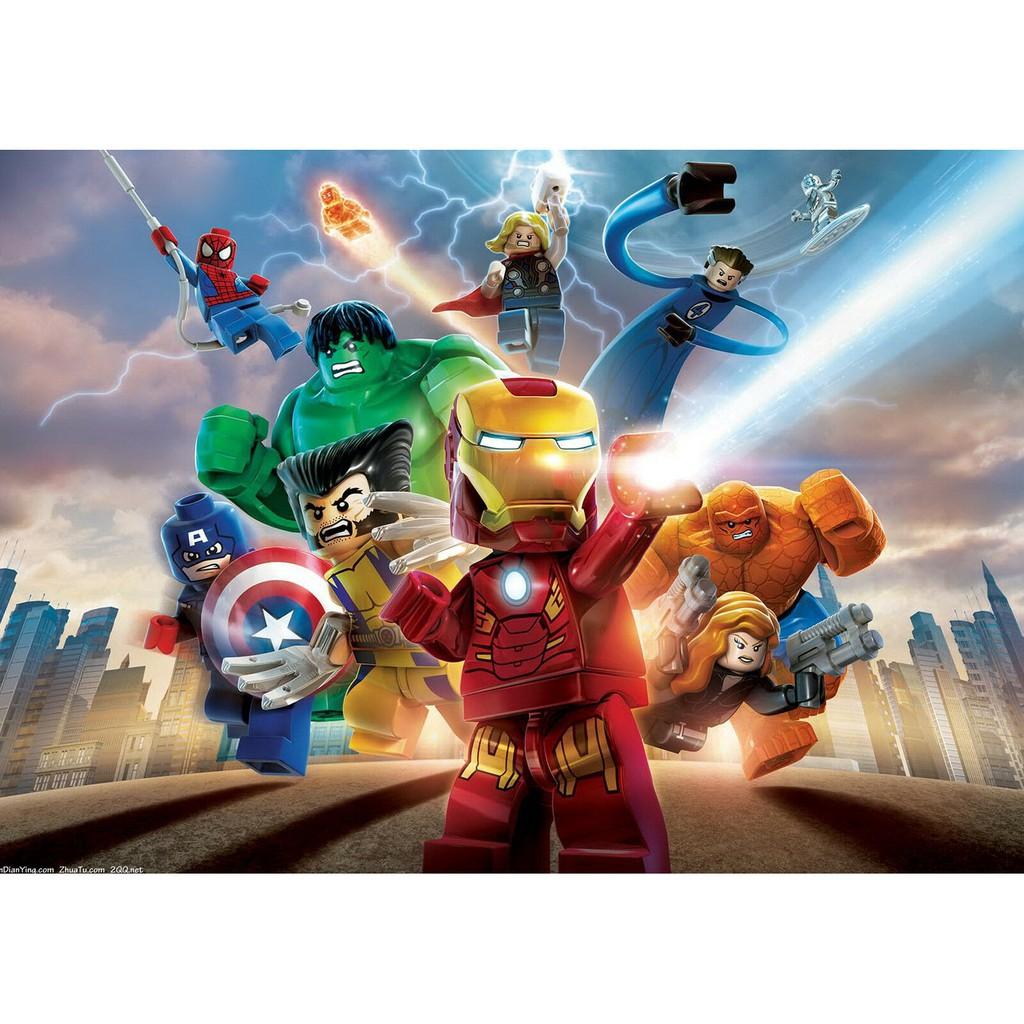 ป้ายโลหะ lego marvel super heroes สําหรับตกแต่งบ้าน