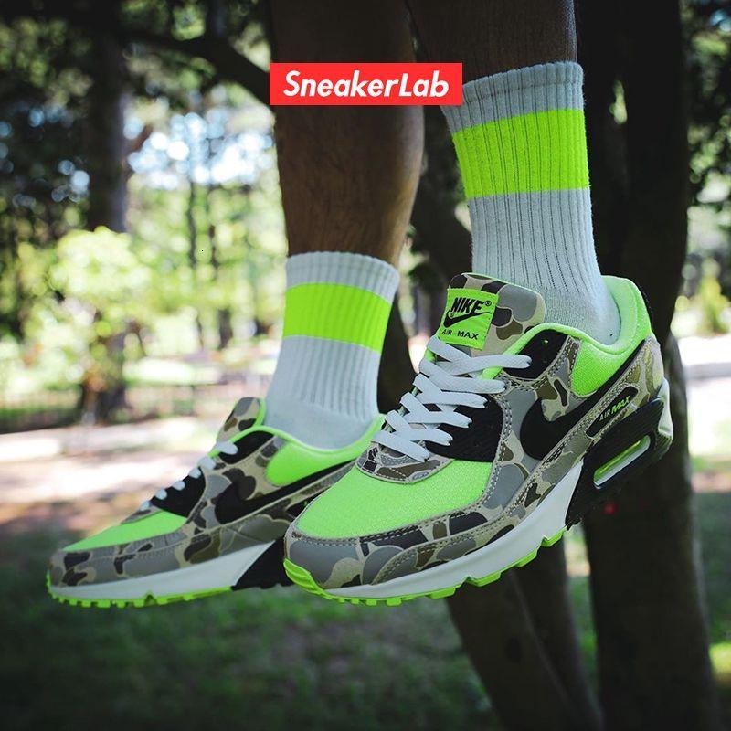 OriginalNike air max 90 Camo men's and women's air cushioned running shoe cw4039-300-800