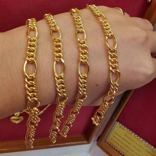  สร้อยมือทอง 96.5%  น้ำหนัก 2 สลึง ยาว 17-20cm ราคา 14,600บาท