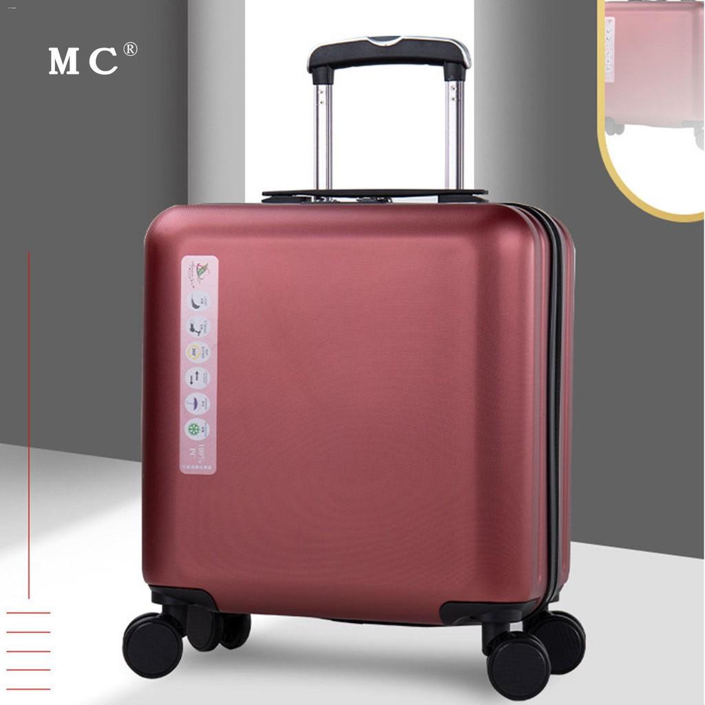 ☊✼☏กระเป๋าเดินทางสำหรับธุรกิจขนาดเล็กและน้ำหนักเบา กระเป๋าเดินทางสำหรับรถเข็นสำหรับสุภาพสตรีขนาด 18 นิ้ว ผู้ชาย 20 นิ้ว