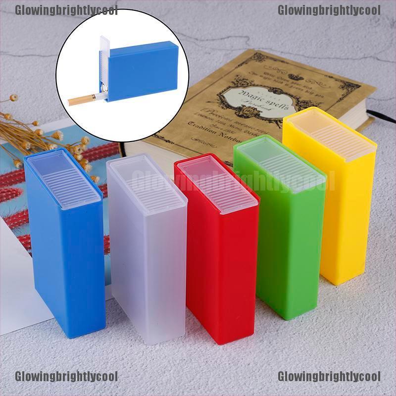 [Glowing] 1PC Plastic Cigarette Case Box Holder Pocket Box Cigarette Holder Storage Glowingbrightlycool