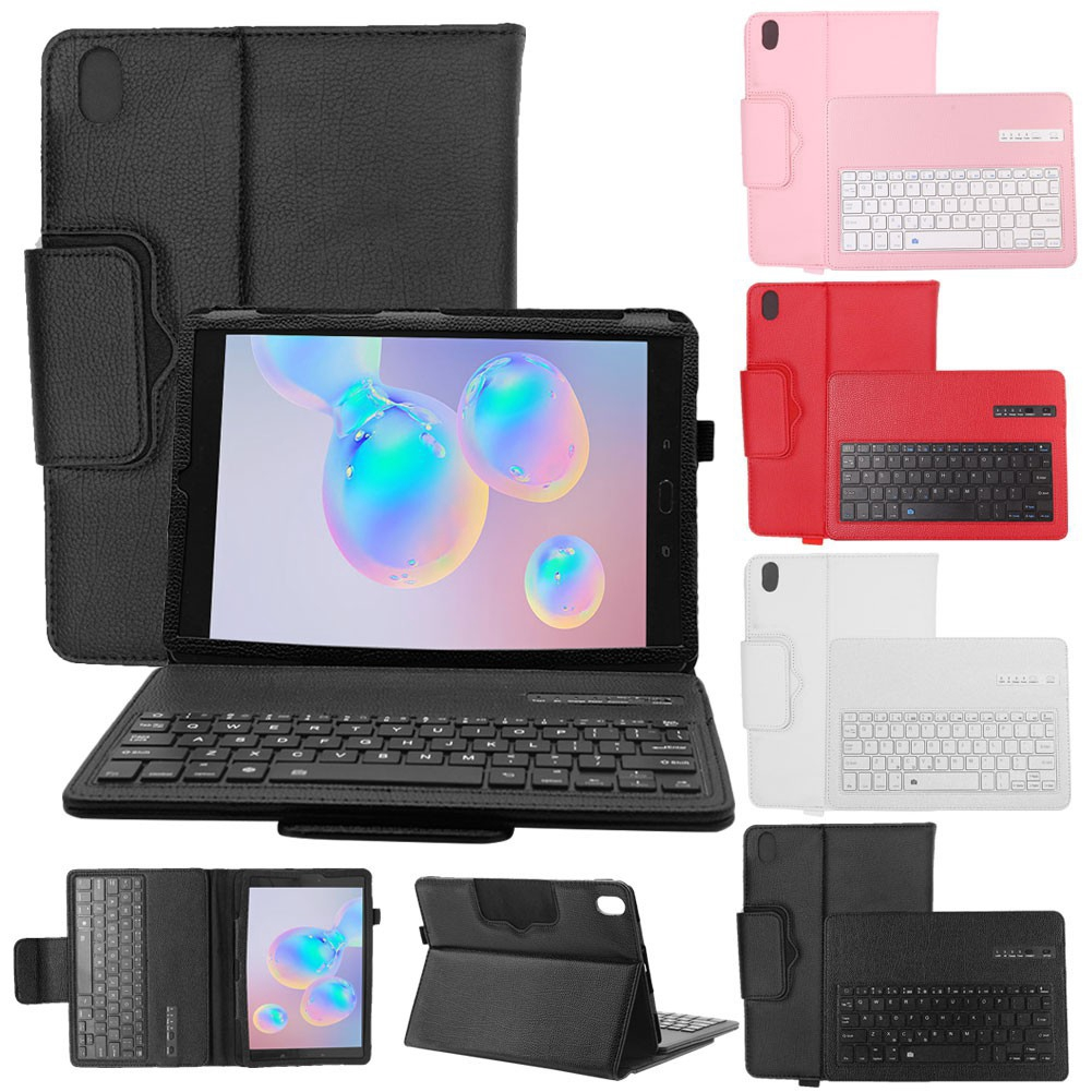 Samsung Galaxy Tab S6 Lite 10.4 /Tab S6 10.5  /Tab S5e 10.5 /Tab S4 10.5 / Tab S3 9.7 Inch Leather Case with Bluetooth Keyboard
