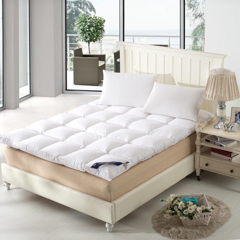 ที่นอนท็อปเปอร์ 6ฟุต topper ที่นอนท็อปเปอร์ ท็อปเปอร์ 5 ฟุต Topper ขนห่านเทียม 3.5ฟุต/5ฟุต/6ฟุต Topper เบาะรองนอน ผ้ารอง