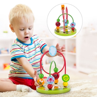 Montessori Baby Toys Wooden Roller Coaster Bead Maze Toddler Early Learning Educational Puzzle Math Toy for Children 1 2