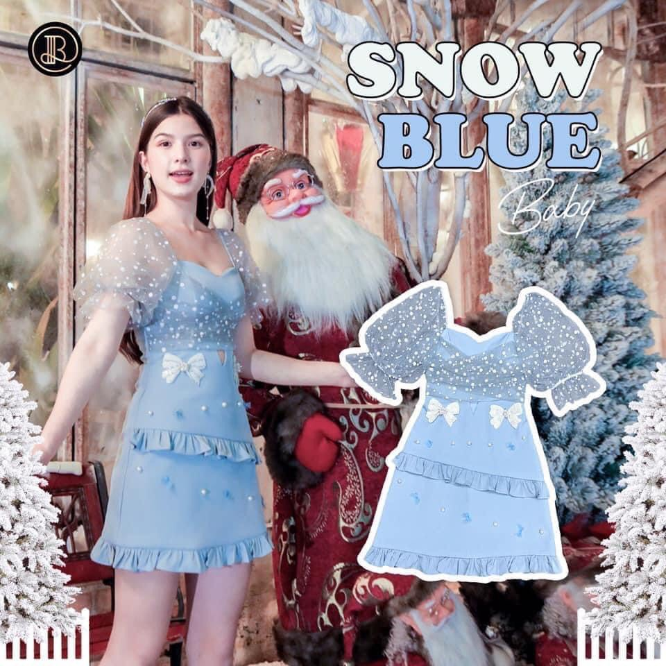 BLT - เดรส snow blue ไซส์ xs มือ 1 ป้ายห้อย