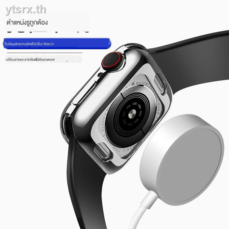 Fashion tpu caseเคส for Apple AirPods ซิลิโคนครอบใสฮาร์ด caseSuitable for Apple Watch protective shell applewatch5 cover silicone iwatch4 soft 2/3/4 generation anti-drop 44/42mm/40/38mm all-inclusive applewatch series4