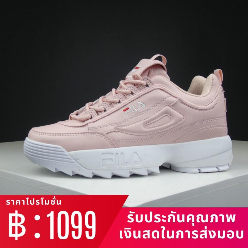 Fila รองเท้าวิ่ง FILA FUSION DISRUPTOR II disruptor รองเท้าลำลองแฟชั่นผู้หญิงรองเท้าผ้าใบรองเท้าวิ่ง