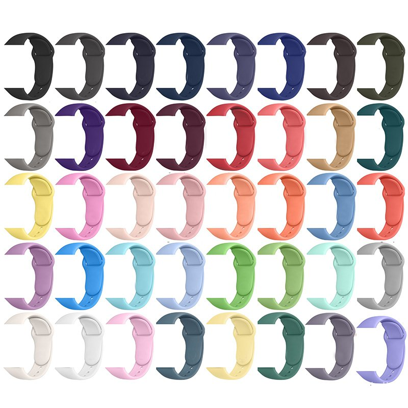 For Apple Watch Band,Fashion Designers Silicone Smart Watch Bands Strap for Apple Watch 44/42mm 40/38mm Series 6 5 4 3 2