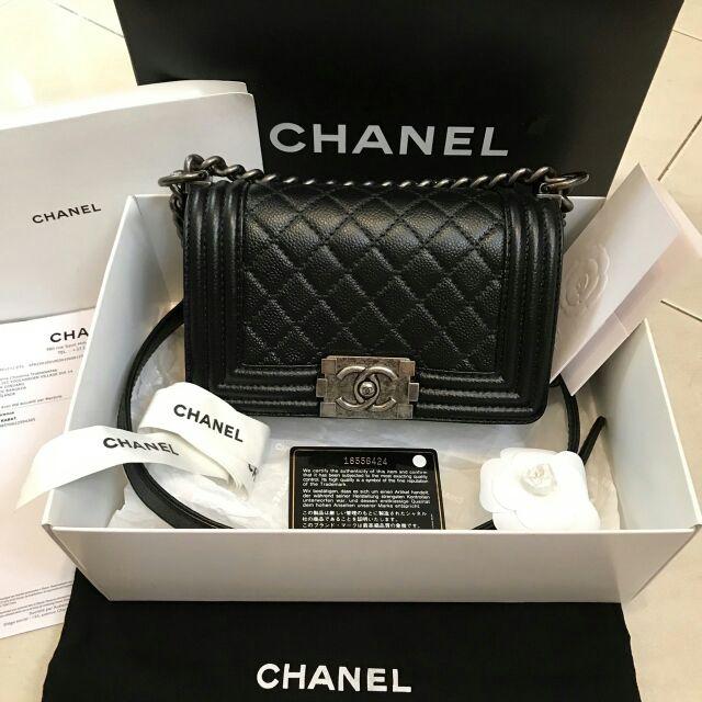 "Chanel boy Suede caviar skin 8"" ( จำหน่ายแล้วครับ)"