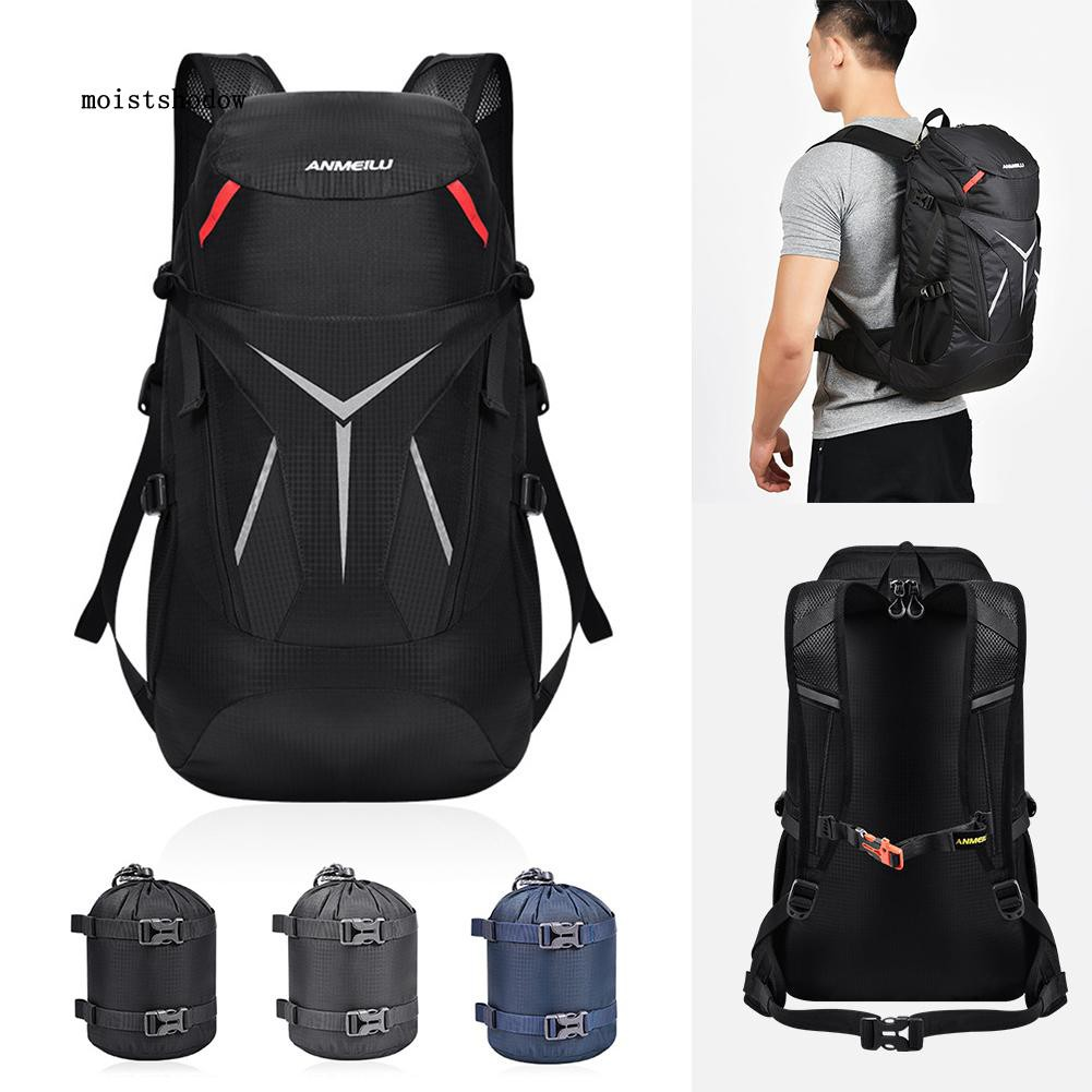 80L Outdoor Breathable Sports Camping Hiking Rucksack Waterproof Backpack Bag