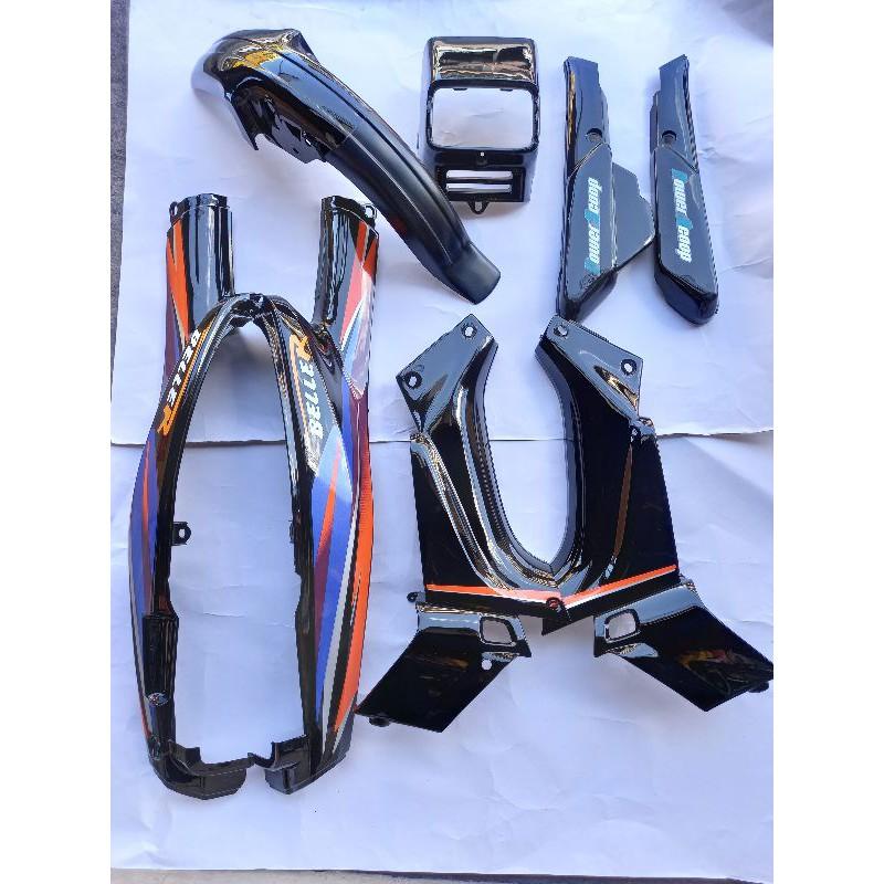 ชุดสีYamaha-Belle100/Belle-R สีดำชุด8ชิ้น