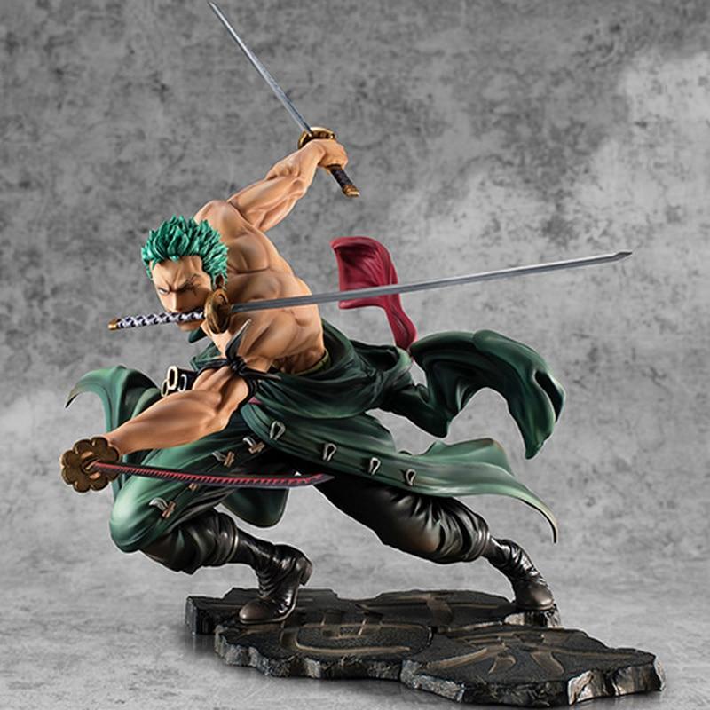Hot Selling One Piece 18cm Anime Figure Roronoa Zoro 1/8 Threeblade Samaximum Ver. PVC Action Figure Collection Model To