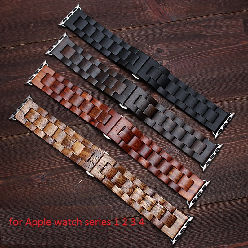 【Apple Watch Strap】 สายคล้องนาฬิกาไม้คุณภาพสูงสำหรับ Apple Watch Series 1 2 3 4 5 6 SE