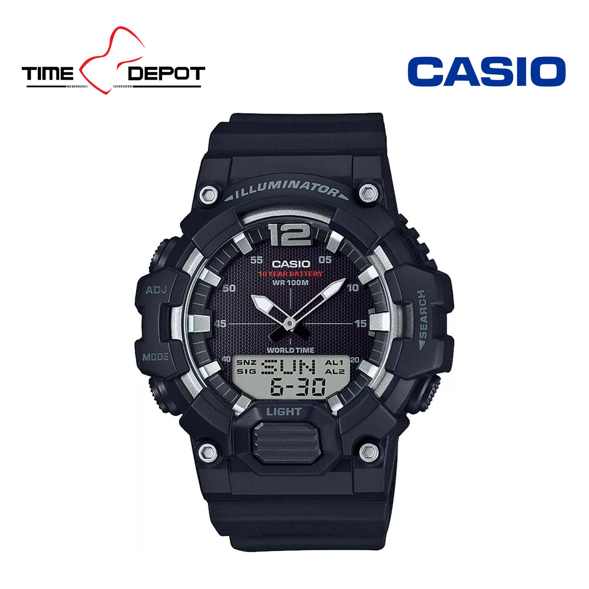 Casio Men's Analog Digital Illuminator Black Resin Strap Watch HDC-700-1AVDF