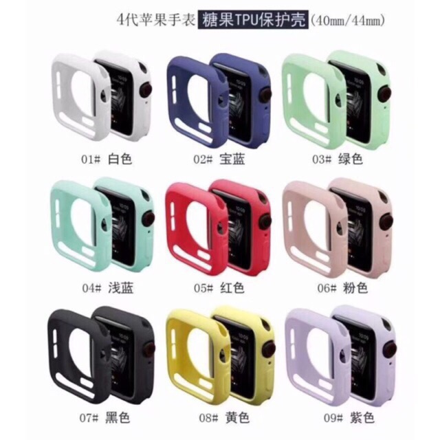 เคส Apple Watch Case Series 4 Sport Soft TPU Protective Case For 40/44mm อย่างดี สัมผัสดี