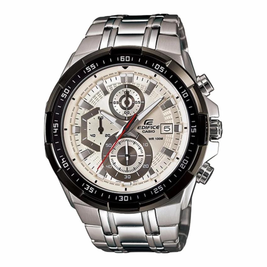 Casio Edifice นาฬิกาข้อมือผู้ชาย สายสแตนเลส รุ่น EFR-539D-7A - สีเงิน