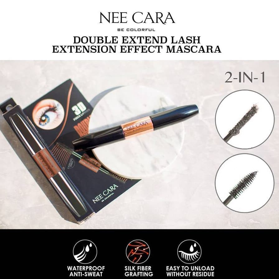 863bacf3941 Nee Cara Double Extend lash Extension Effect Mascara #N602 | Shopee Thailand