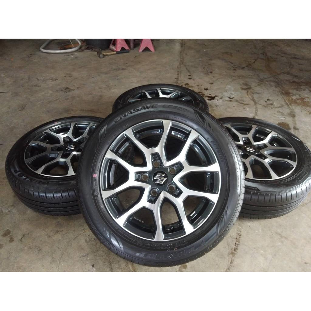 ล้อ Suzuki XL7 ขอบ16 ปี20 ถอดป้ายแดง พร้อมยาง Dunlop 195 60 R16 ปี20
