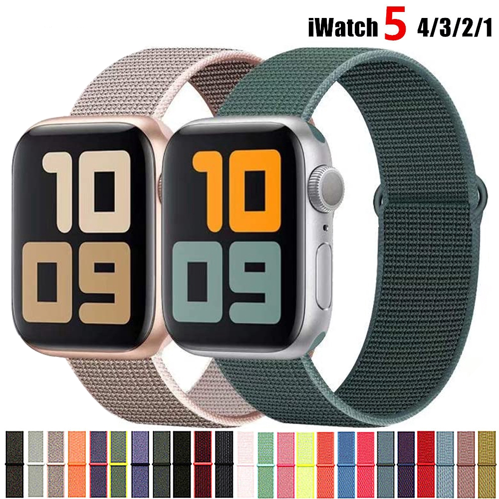 Nylon Strap For Apple Watch band 40mm 44mm iWatch band 38mm 42mm series Sport loop Bracelet Apple watch 5 4 3 2 38 40 42 44 mm