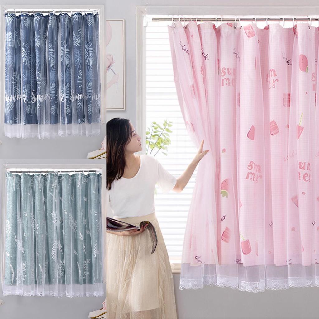 MOม่าน ผ้าม่าน ผ้าม่านหน้าต่าง ผ้าม่านประตู ม่าน 2 ชั้น กันแดด ผ้าม่านสำเร็จรูป ตะขอ บานประตูหน้าต่า กันUV ผ้าม่านกันแดด