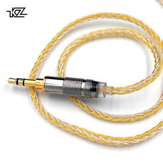 KZ Gold Silver Mixed Cable 200 Core Upgrade Cable 2PIN 0.75mm/MMCX Cables for KZ ZS10 Pro ZST AS10 BA10 ZS6 ZSX ZSN Pro X