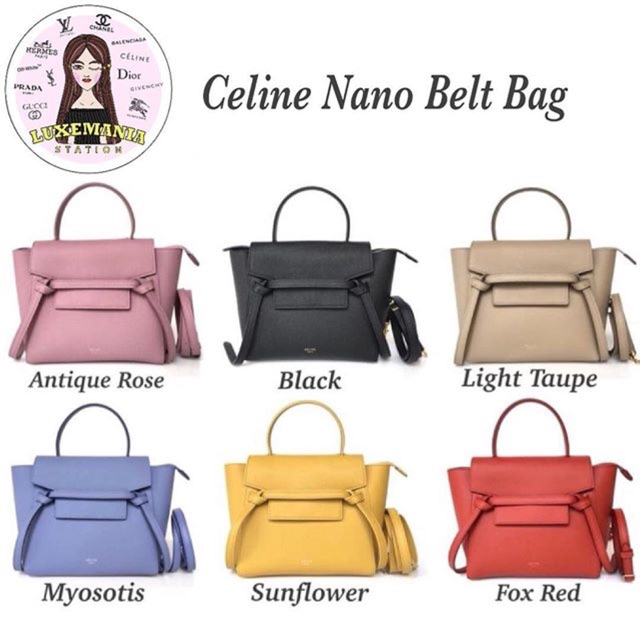 New!! Celine Nano Belt Bag  c1ed8b33e7463