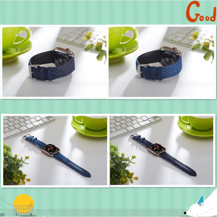 แฟชั่นเดนิม apple watch strap สายเดนิม iwatch series SE 6 5 4 3 2 1  สาย applewatch 38 40 42 44mm