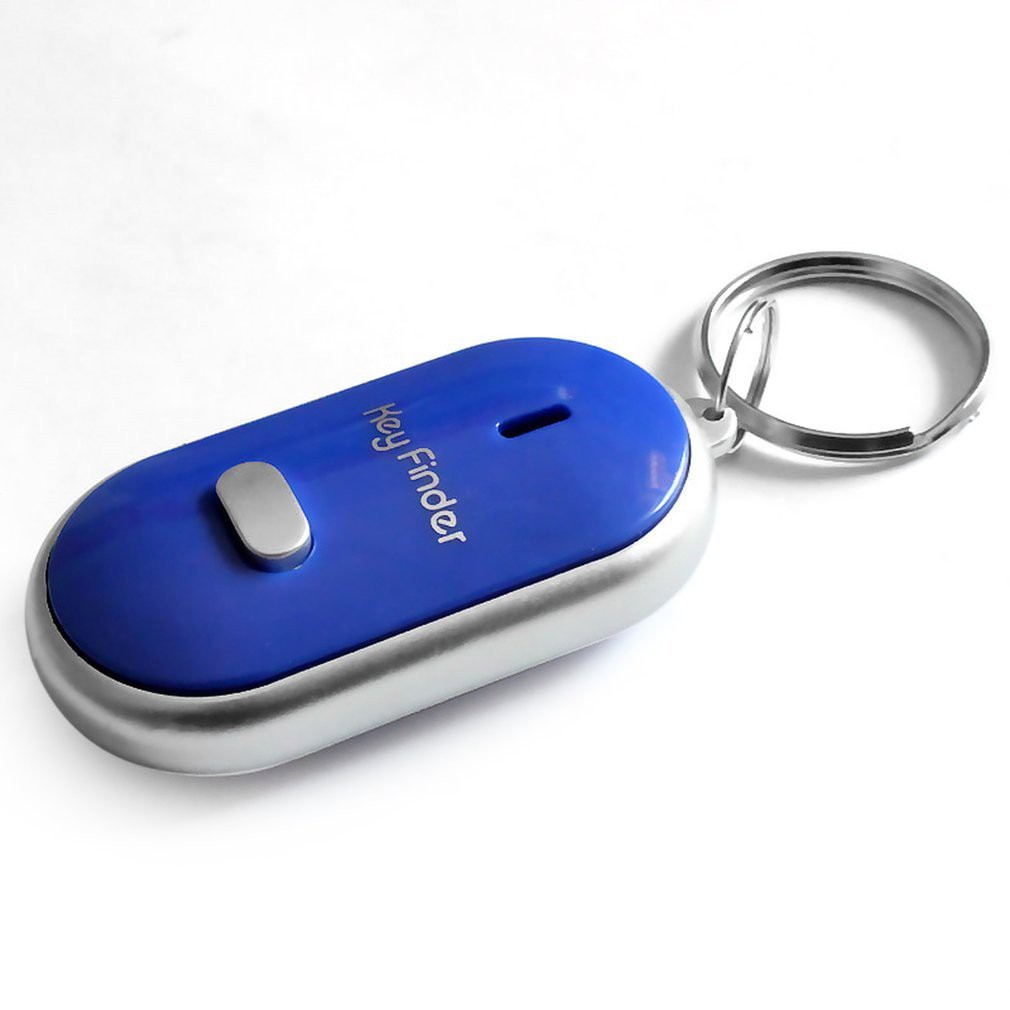 LED Keychain Portable Whistle Anti-Lost Keyring Beep Sound Control Locator Torch