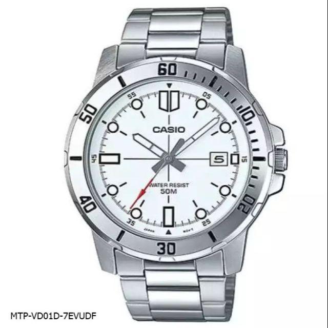 นาฬิกาข้อมือผู้ชาย CASIO รุ่น MTP-VD01D สายสแตนเลส รับประกัน1ปี ของแท้แน่นอน 💯% ส่งพร้อมกล่อง