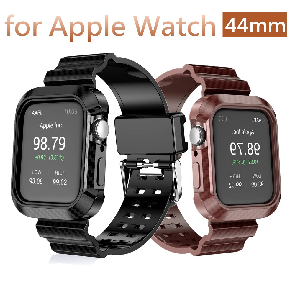 For Apple Watch Series 5 4 Protective Cover 42mm Apple Carbon Fiber Watch Drop Proof iwatch 44mm Built-in Protective Strap