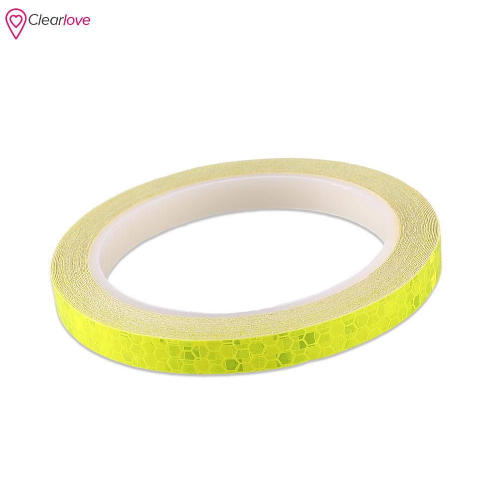 8M Reflective Safety Warning Tape Car Bike Motorcycle Sticker Glow Bright Green