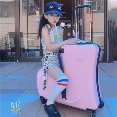 ☫✣☼กระเป๋าเดินทางของเด็ก miyo หญิงสามารถนั่งและนั่งรถเข็นกระเป๋าเดินทางชายเด็กสามารถนั่งกับกระเป๋าเดินทางเด็กทารก