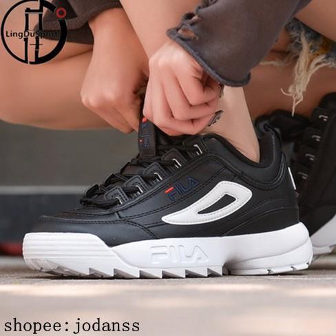 Original Fila DISRUPTOR 2 รองเท้าวิ่งผู้ชายผู้หญิง