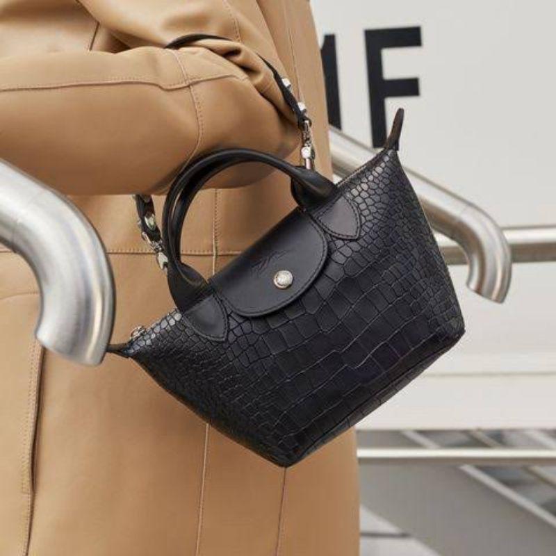 Longchamp Le Pliage Cuir Croco Mini Leather Top Handle Bag ราคา ...