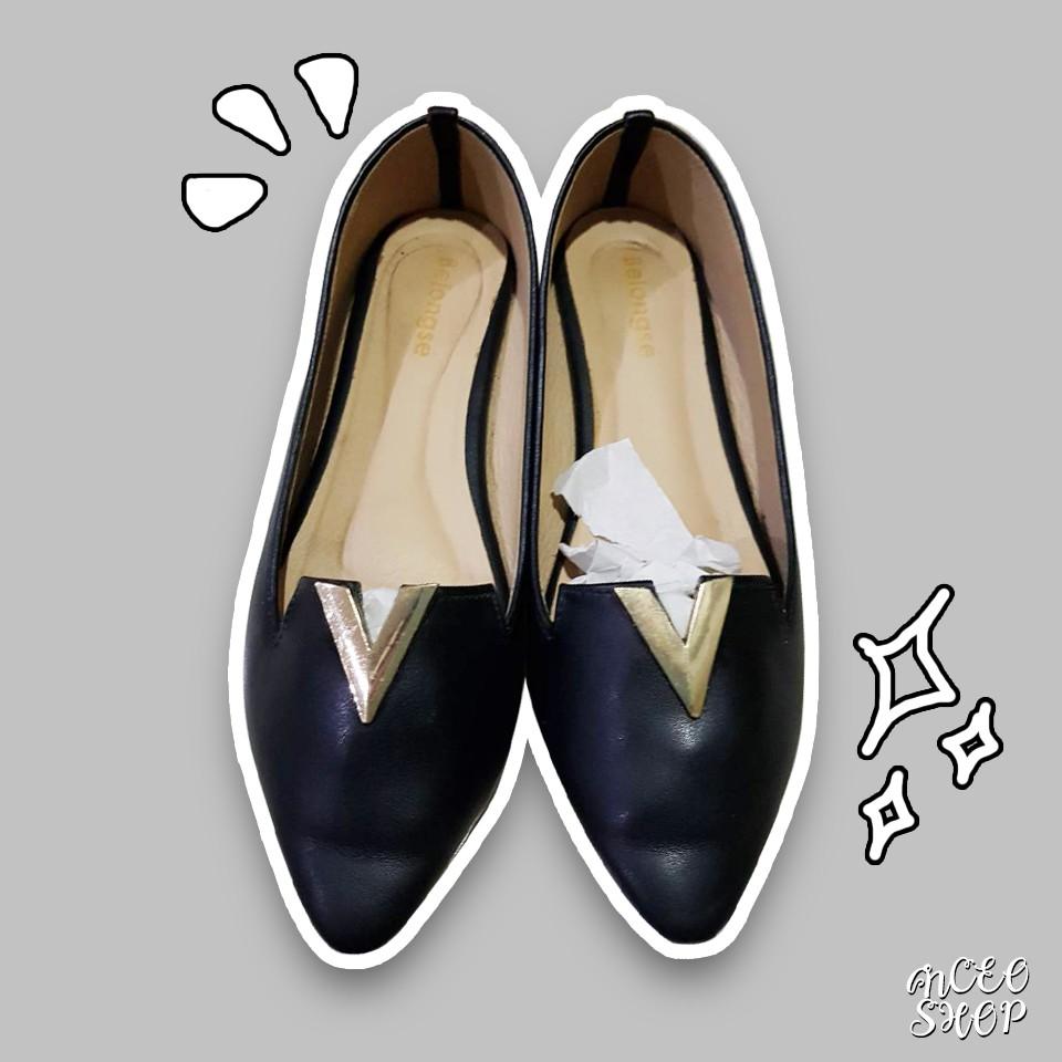 รองเท้าคัชชูสีดำ รองเท้าคัชชูผู้หญิง รองเท้าคัชชู รองเท้า001