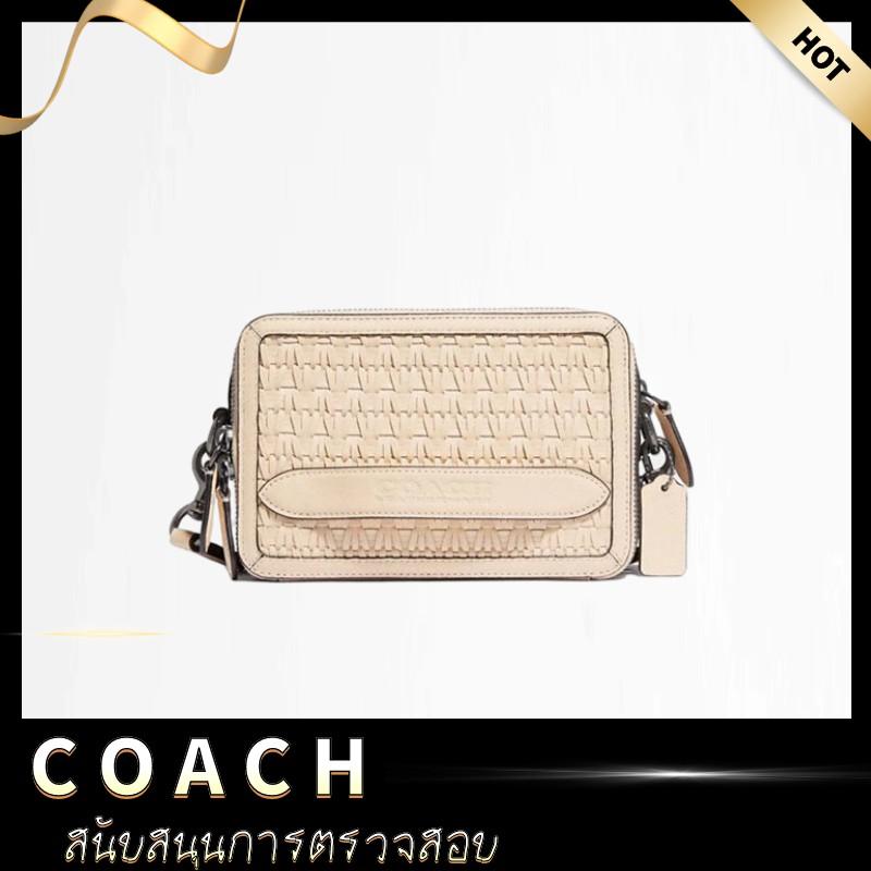 [ลดราคา KK & COACH] COACH Woven CHARTER Crossbody Bag Shoulder Bag กระเป๋าสะพายข้างกระเป๋าผู้หญิง