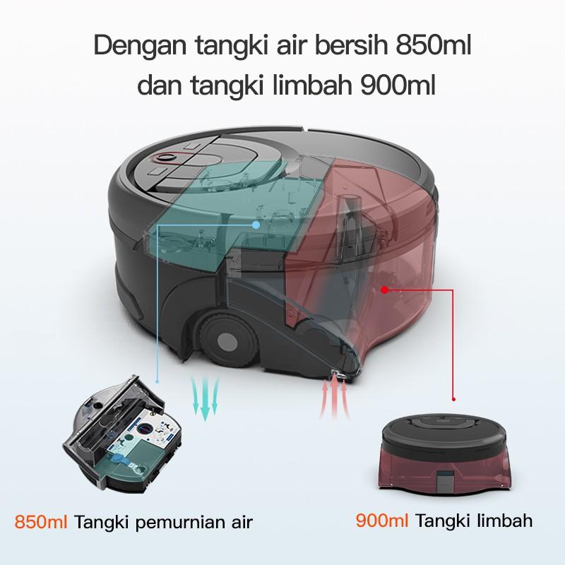 【COD】j☎ILIFE W450 Robot Vacuum Cleaner หุ่นยนต์ดูดฝุ่น หุ่นยนต์กวาด  1000Pa เส้นทางการวางแผนอัจฉริยะ กล่องเก็บฝุ