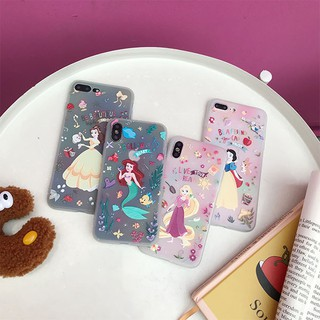 【ลดลง 15% จาก 200: TH6ESZAX】Mermaid Princess series เคสซิลิโคน iphone for iphone6plus phone7 SE 8 8plus iphoneX XR XSMAX iphone11 11pr