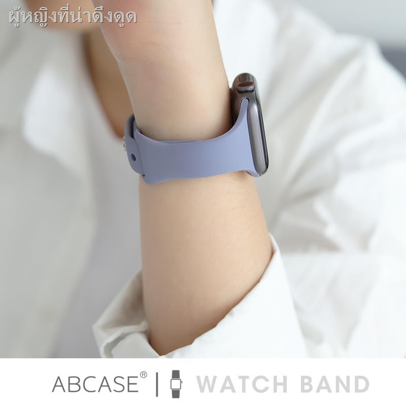 Air podsซิลิโคนครอบใสฮาร์ด caseเคส for Apple AirPods ABCASE is suitable for iwatch6 strap silicone sports small waist applewatch5/4/3/SE Apple watch 38/42/40/44mm antique white creative girl trendy ins